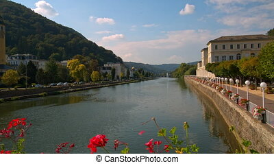 Bad EMS, Germany a beautiful town in Sunny weather.