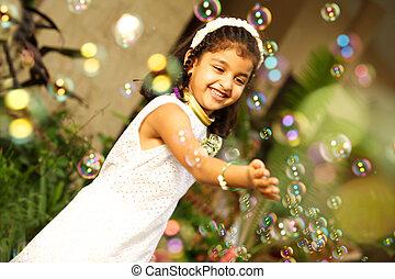 Asian little girl wedding dress