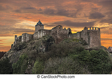 The ruins of an old castle