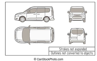 car van drawing outlines not converted to objects - car van...