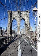 Brooklyn bridge - View of the Brooklyn bridge in New York