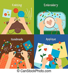 Handmade illustration set - Handmade vector illustration...