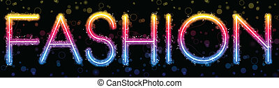 Fashion Rainbow Lights Glitter with Sparkles - Vector -...