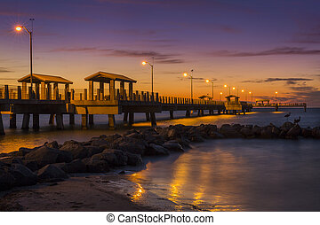 Fishing Pier at Twilight - St. Petersburg, Florida