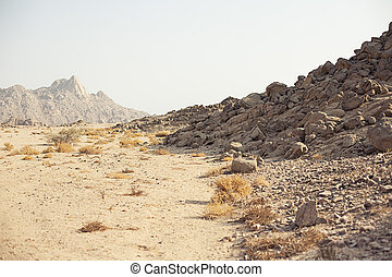 Mountain in desert in Sharm El Sheikh Egypt