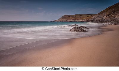 Pristine sand at Fall Bay Gower Swansea - The beautiful...