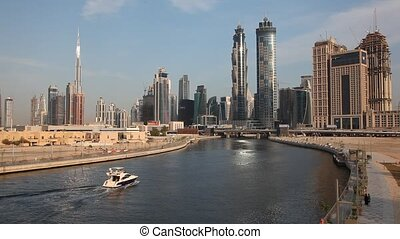 Dubai Water Canal - View of the Dubai Water Canal and...