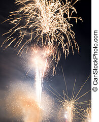 fireworks in the night sky - image of fireworks in the night...