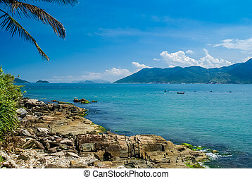 Florianopolis in Brasil - Photo of stones on coast near sea...