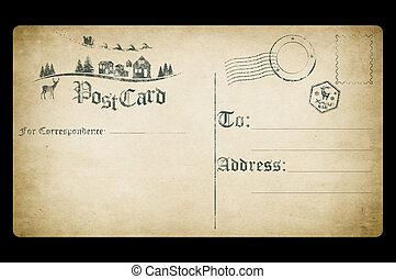 Vintage postcard with Christmas image.