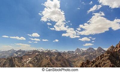 High mountains. Time Lapse. Pamir, Tajikistan