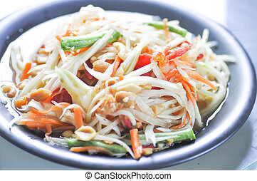 som tam or spicy salad ,Thai food - som tam ,spicy salad or...