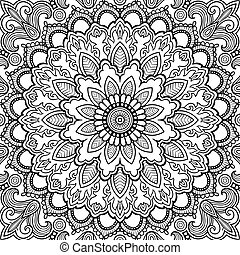 Mandala Vector tattoo. Islam, Arabic, Indian, asian motifs....