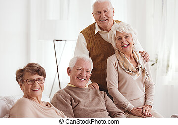 Seniors with positive attitude - Portrait of smiling seniors...