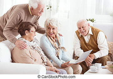 Pensioners of senior house - Happy pensioners of senior...