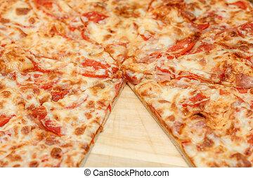 de madera, tabla, Primer plano,  cheeze,  pizza