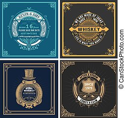 Set of old cards