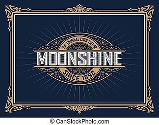 Vintage label design for Whiskey and Wine label, Restaurant...