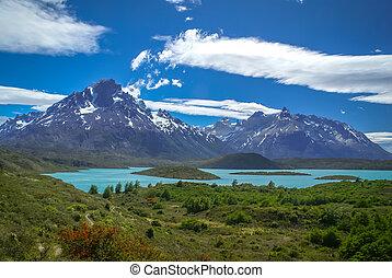 Torres del Paine - Wild countryside in Parque Nacional...
