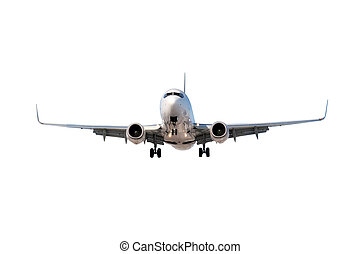 Airplane isolated on white - Large commercial airplane...
