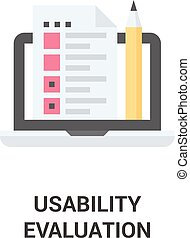 usability evaluation icon - Modern flat vector illustration...