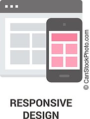 responsive design icon - Modern flat vector illustration...