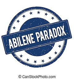 ABILENE PARADOX stamp sign text word logo blue.