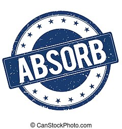 ABSORB stamp sign text word logo blue.