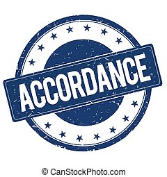 ACCORDANCE stamp sign text word logo blue.