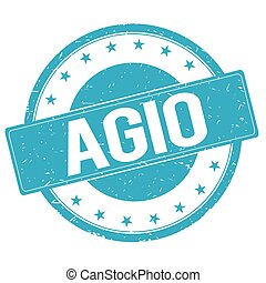 AGIO stamp sign cyan blue. - AGIO stamp sign text word logo...