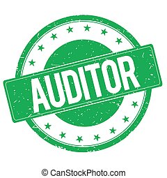 AUDITOR stamp sign green - AUDITOR stamp sign text word logo...