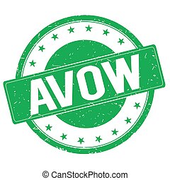 AVOW stamp sign green - AVOW stamp sign text word logo...