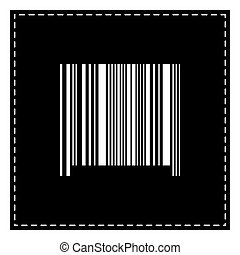 Bar code sign. Black patch on white background. Isolated.