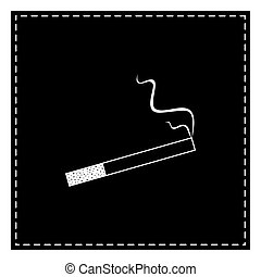 Smoke icon great for any use. Black patch on white background. I