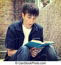 Teenager read a Book