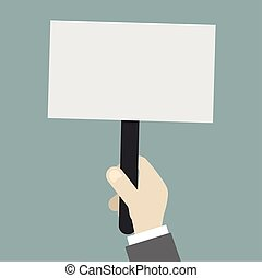 Empty Protest Sign - minimalistic illustration of a...