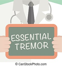 Board Essential Tremor - minimalistic illustration of a...