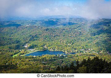 View of Grandfather Lake, from Grandfather Mountain, North...
