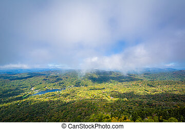 View of the Blue Ridge Mountains and Grandfather Lake from...