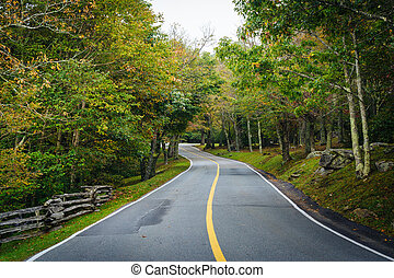 The road to Grandfather Mountain, at Grandfather Mountain,...