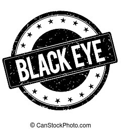 BLACK EYE stamp sign black.