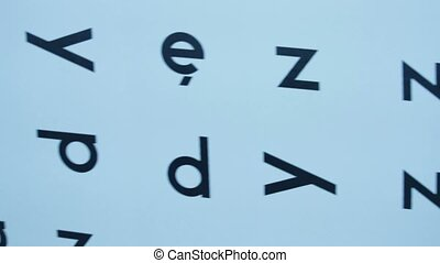 Alphabet letters in chaotic order - Alphabet letters written...