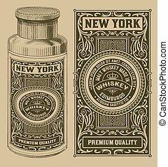 Vintage design with bottle