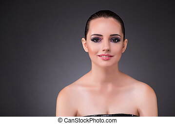 Young woman in beauty concept