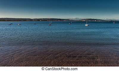 Swansea Bay South Wales - View of Swansea across the Bay...
