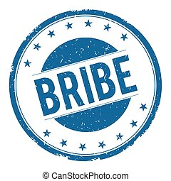 BRIBE stamp sign text word logo blue.