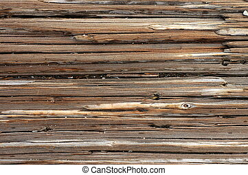 Abstract background texture of weathered, cracked wood