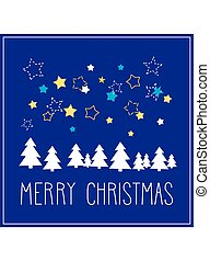 Christmas vector card with Merry Christmas wishes