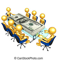 Money Meeting - A Concept And Presentation Illustration In...