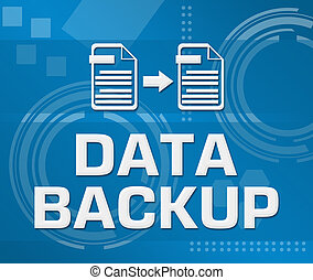 Data Backup Technical Background Square - Data backup text...